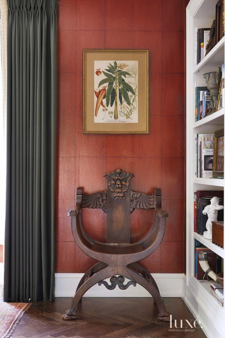 Transitional Living Room Transitional Living Room Detail With Savonarola Chair Luxe