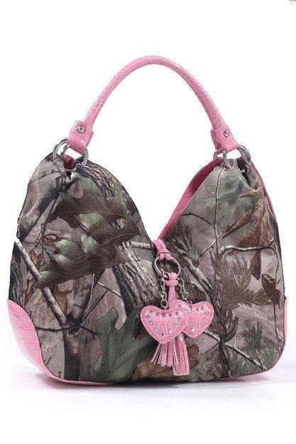Realtree® Camo Pink Hearts Handbag