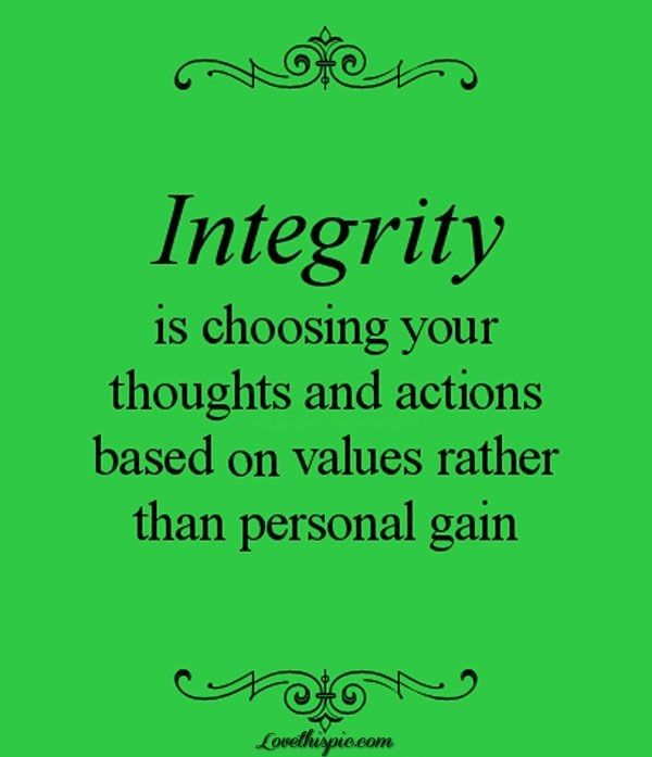 Morality ethics and integrity