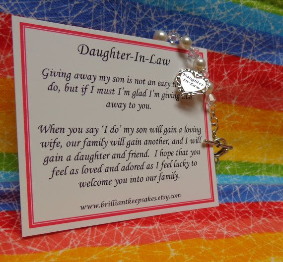 Future Daughter In Law Wedding Gift Bracelet by BrilliantKeepsakes ...