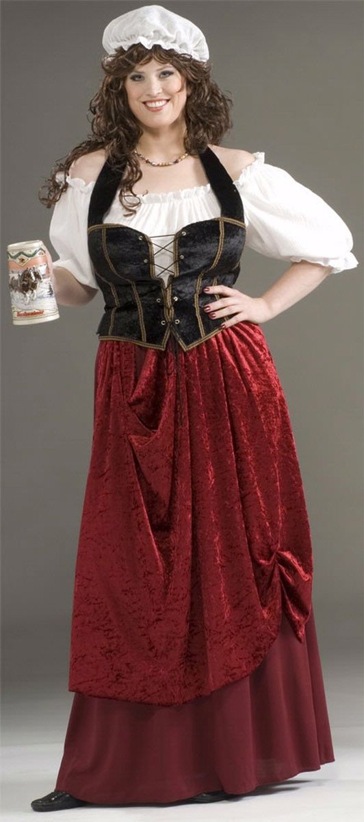 Renaissance Costumes Plus Size Tavern Wench Costume Womens Sexy