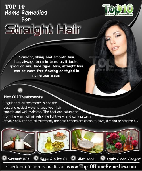 Home Remedies to Get Straight Hair