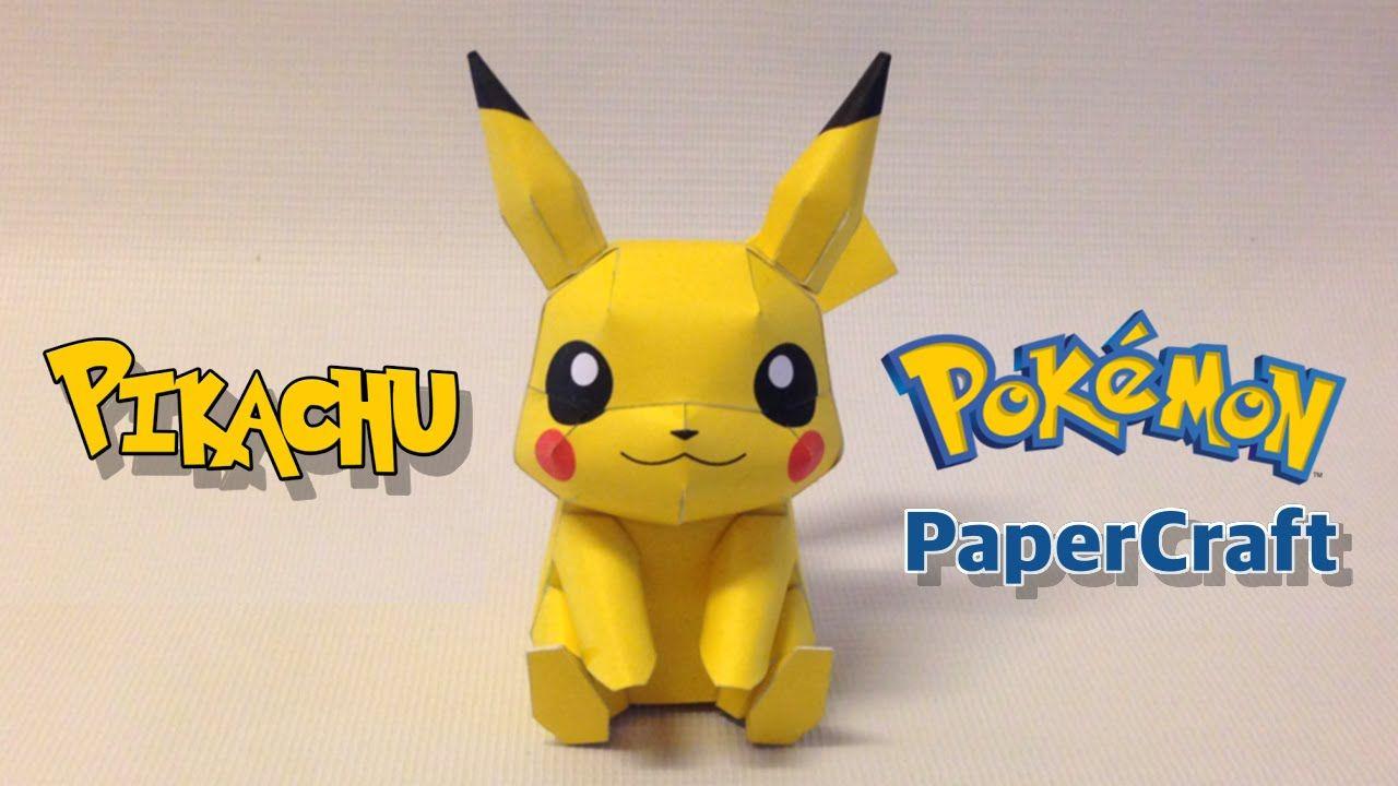 How to make Pikachu Papercraft from Pokemon Go | Самоделкин | Pinterest