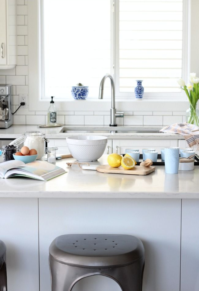 Check out this classic white kitchen renovation