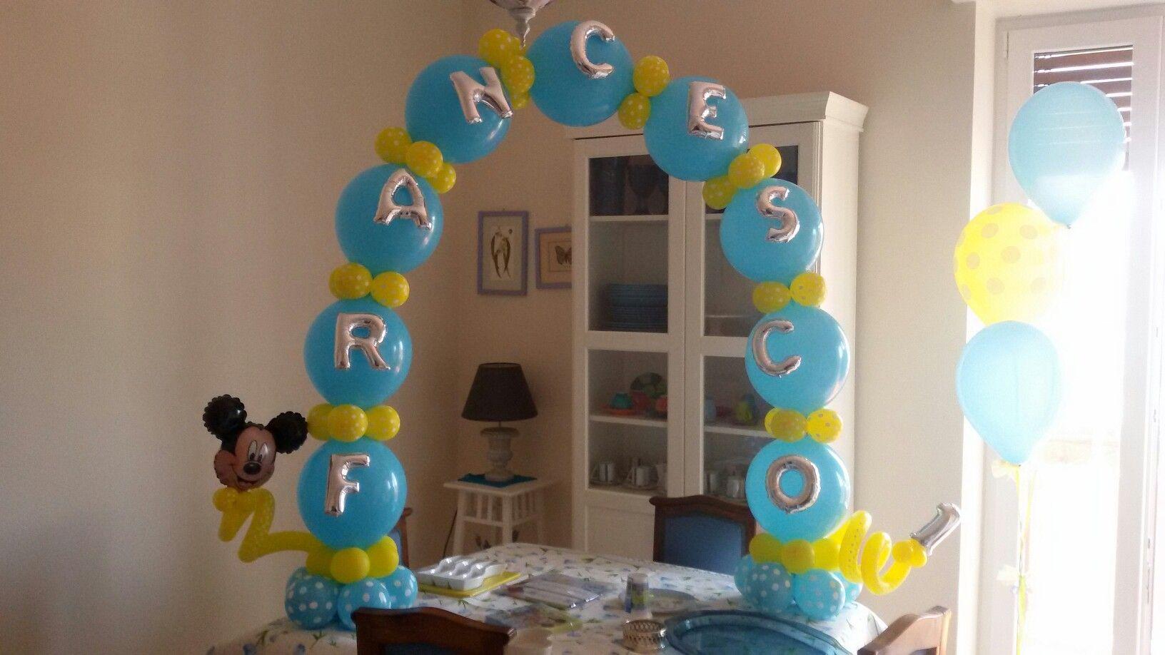 Arco Da Tavolo Primo Compleanno Tema Topolino Bombo Creazioni
