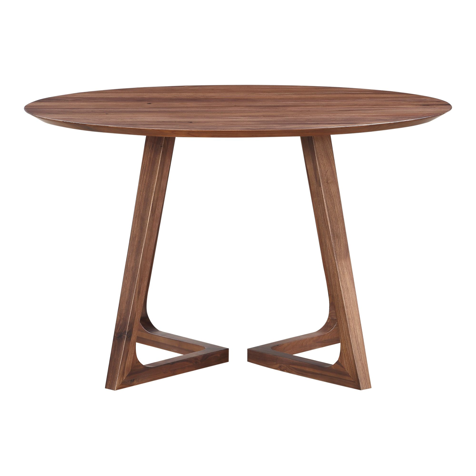 Godenza Dining Table Round Walnut In 2020 Round Dining Table
