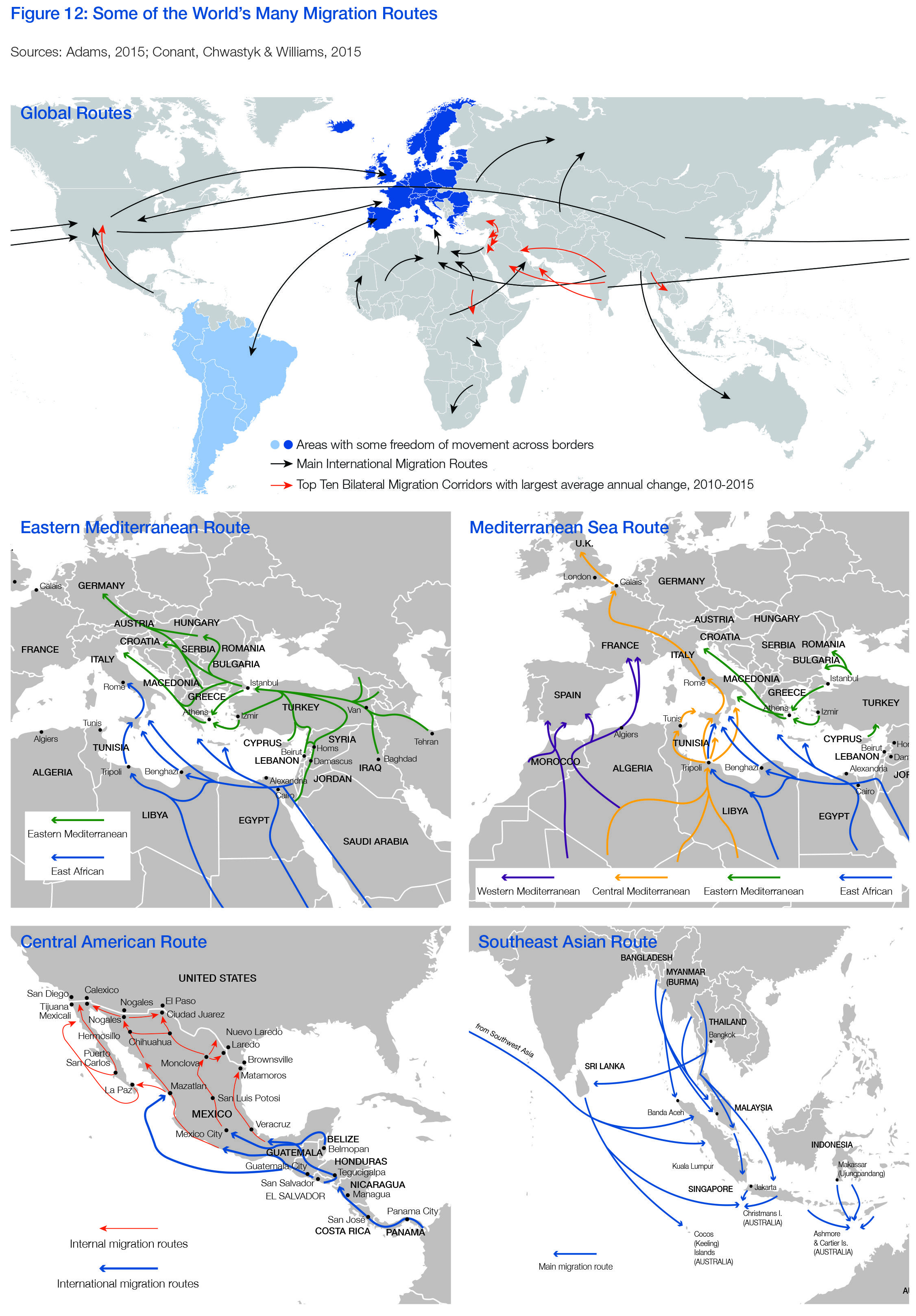Maps show the worlds migration routes both overland sea world maps show the worlds migration routes both overland sea gumiabroncs Choice Image