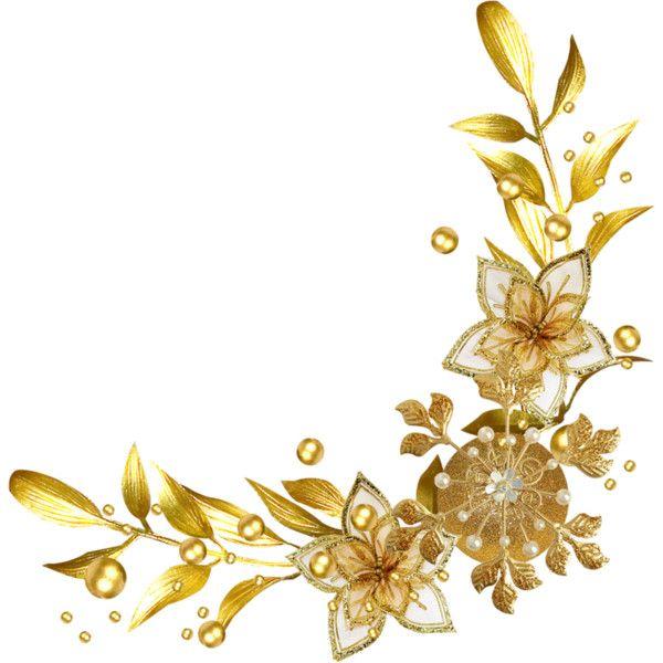 Christmas Gold 38 Png Liked On Polyvore Featuring Frame Borders And Picture Frame Lukisan Bunga Gambar Pengantin Bunga