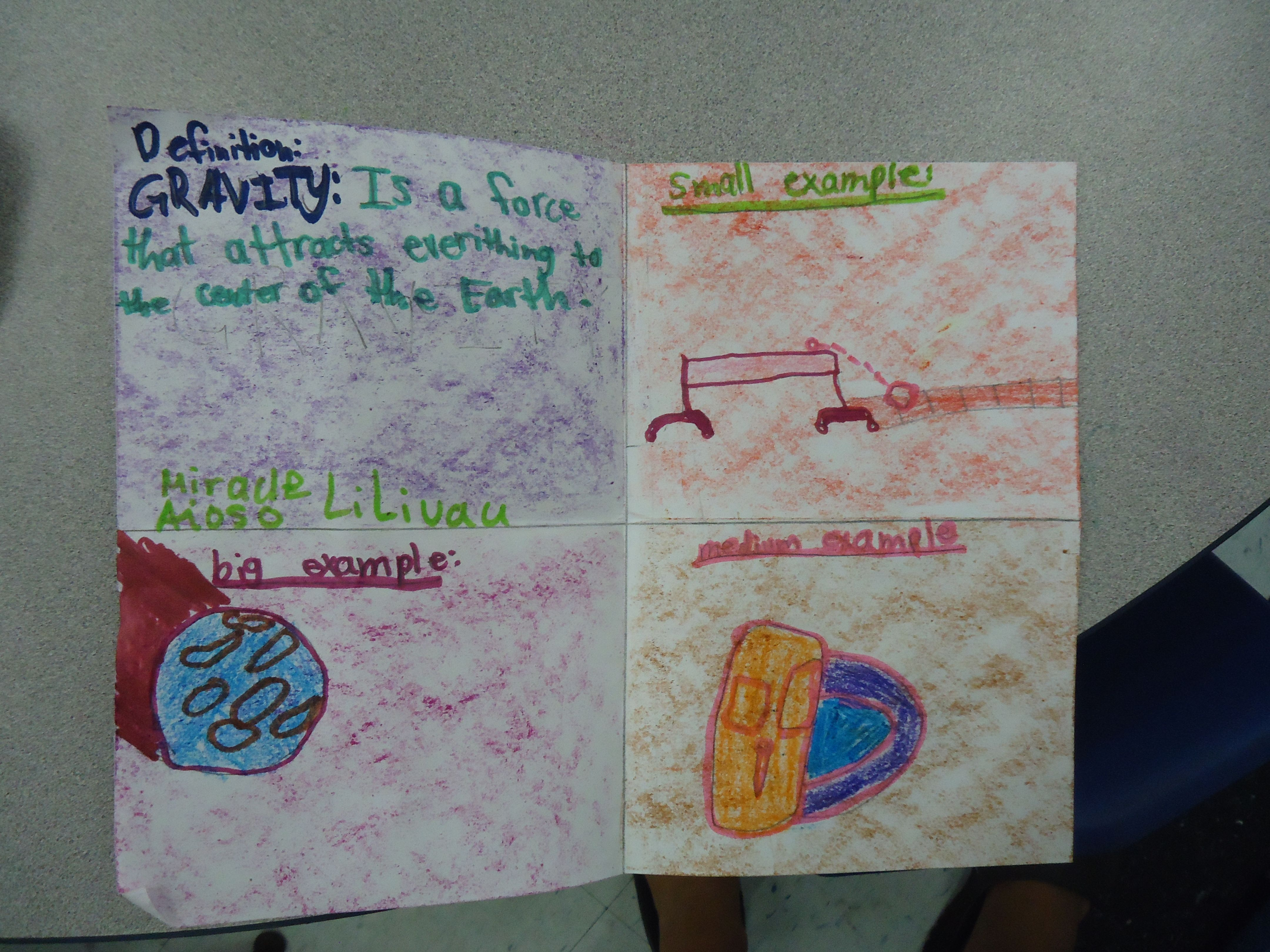 Kids Activity About Examples Of Gravity
