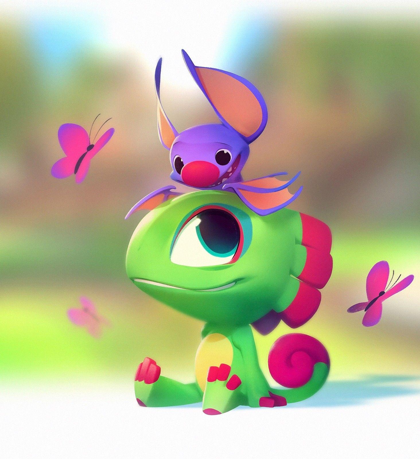 Yooka Laylee Nicholas Kole On Artstation At Https Www Artstation Com Artwork 66z1v Cute Art Emotional Art Game Character Design