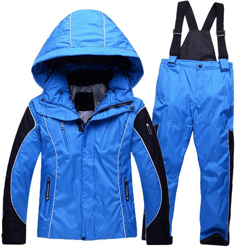 9ebb45ed7 Children Winter Sets Boys Ski Suit Outdoor Windproof Waterproof For ...