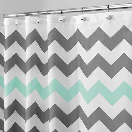 InterDesign Chevron Fabric Shower Curtain 72 X Various Colors