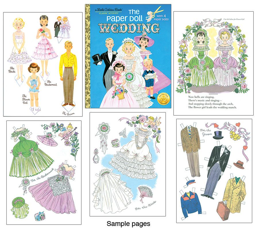 The Paper Doll Wedding  A Little Golden Book   Illustrations By