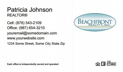 Beachfront Realty Business Cards Bri Bc 078 Without Photo