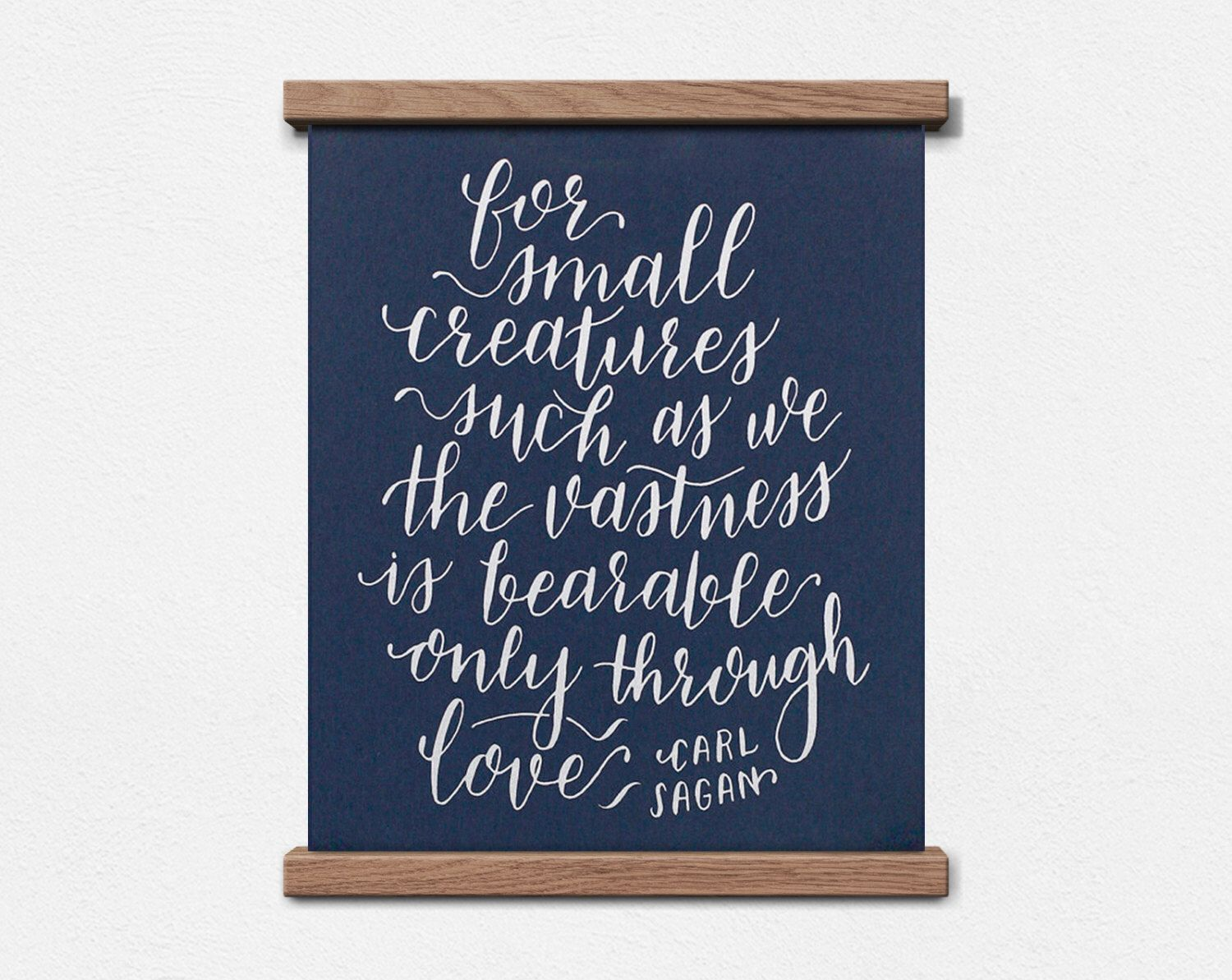 Carl Sagan Love Quote Mesmerizing Carl Sagan Love Quote Calligraphy 8 X 10 Screen Print.