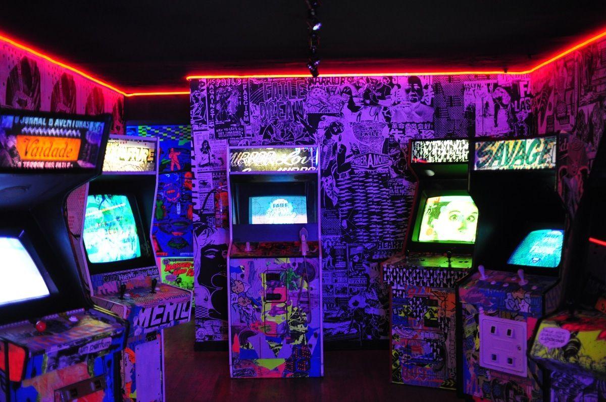 Retro Neon Bedroom