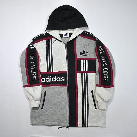 Vintage Adidas Branded Zip Jacket