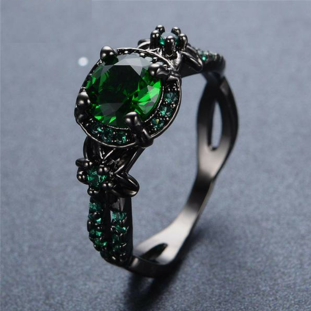 Black Gold Emerald Ring In 2018 Objects Products That I Want