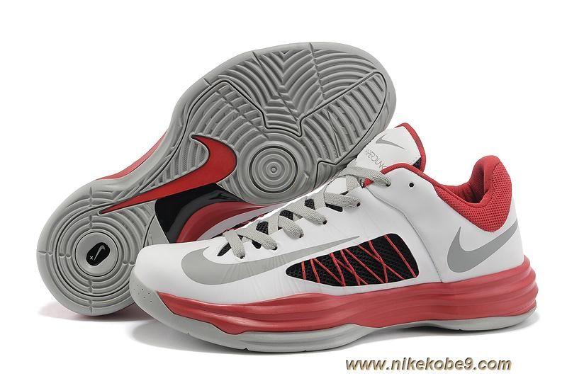newest 6c5de 80a0d New White Red Nike Lunar Hyperdunk Low