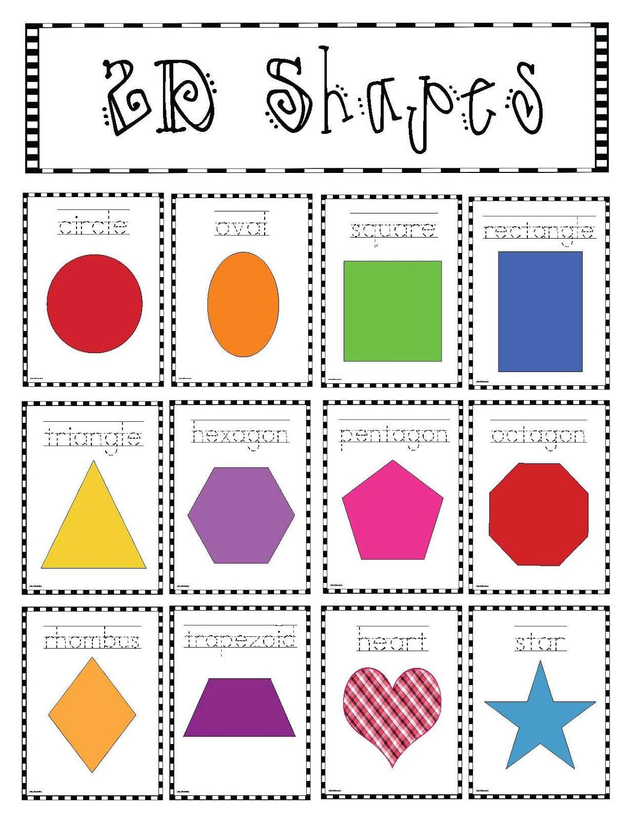 2d Shapes Poster Packet Classroom Freebies Shapes Kindergarten Shapes Worksheets Shapes Worksheet Kindergarten