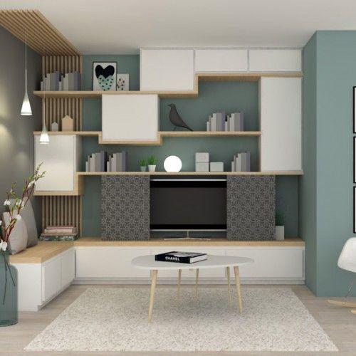 decoration amenagement salon meuble sur mesure maison lyon isle dabeau agence architecture interieur marion lanoe vue 3d 1