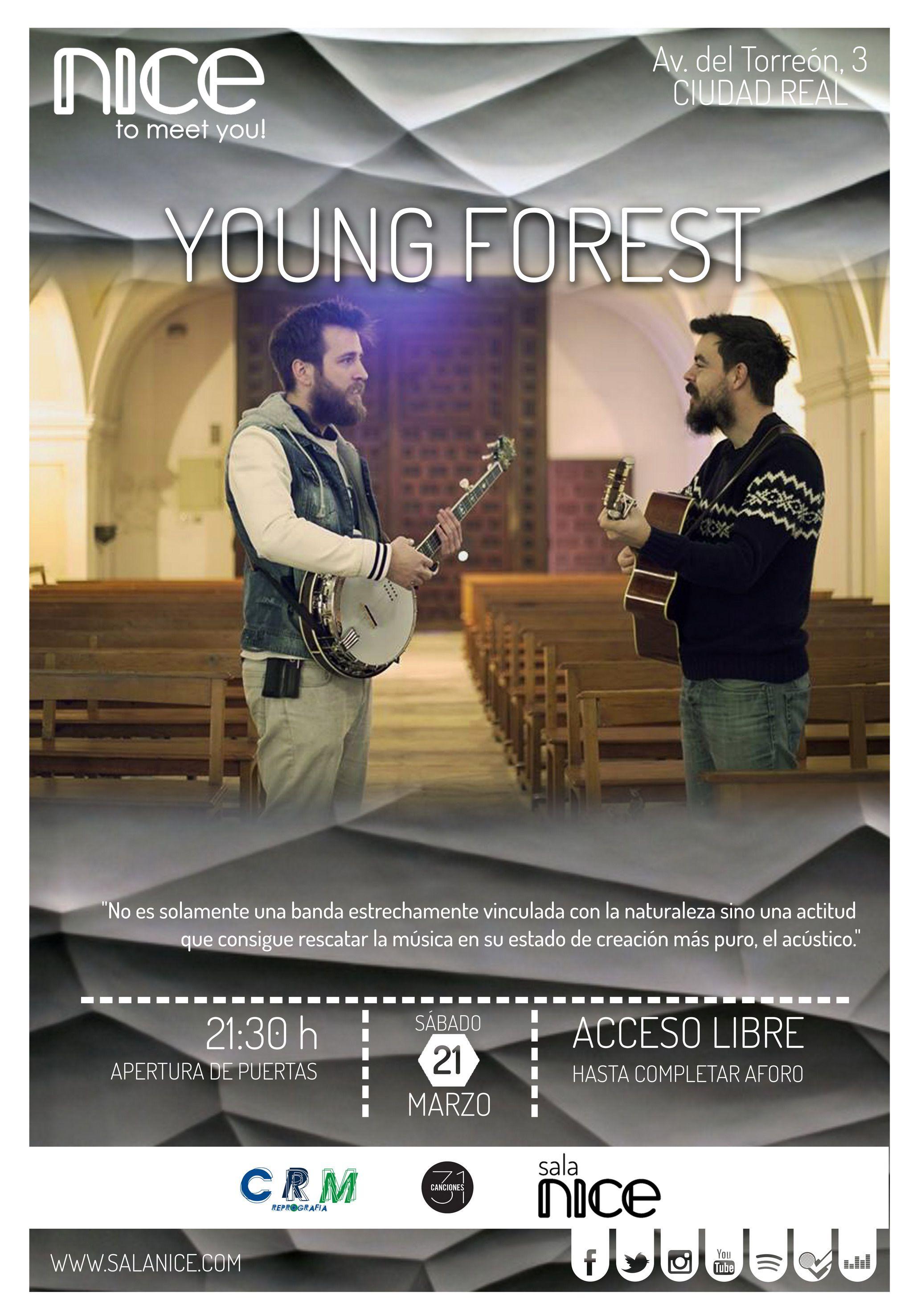 31Canciones presenta a YOUNG FOREST en Sala Nice (Ciudad Real)