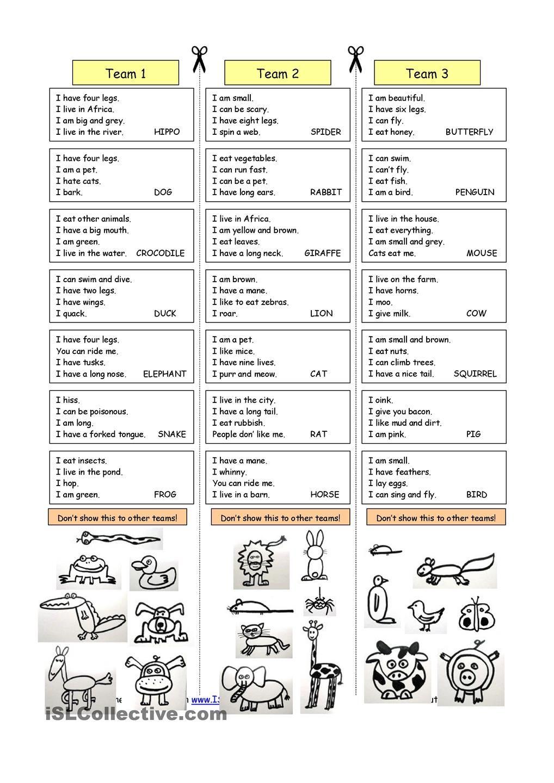 Animal Riddles 1 (Easy) | Mesh | Pinterest