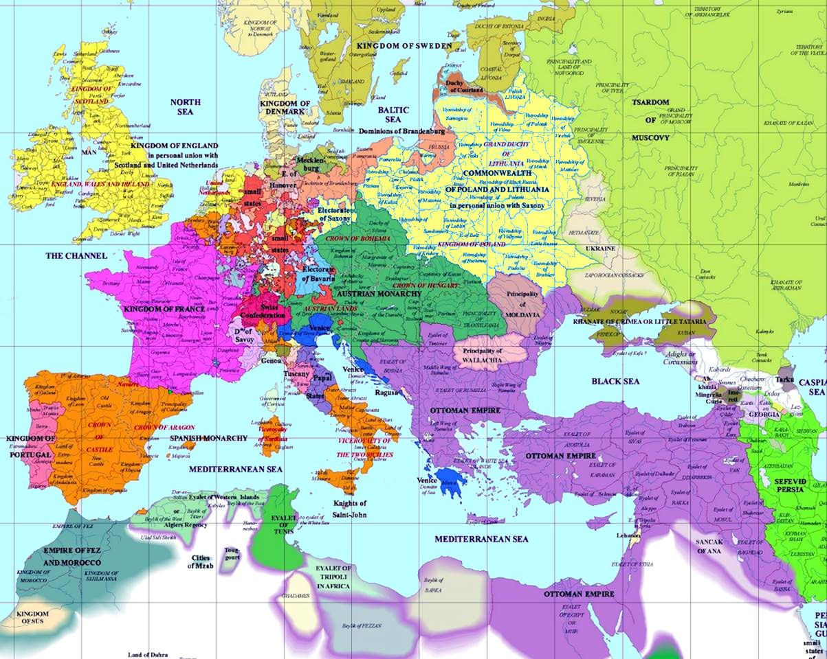 European history map 1700 ad history pinterest european european history map 1700 ad gumiabroncs Choice Image