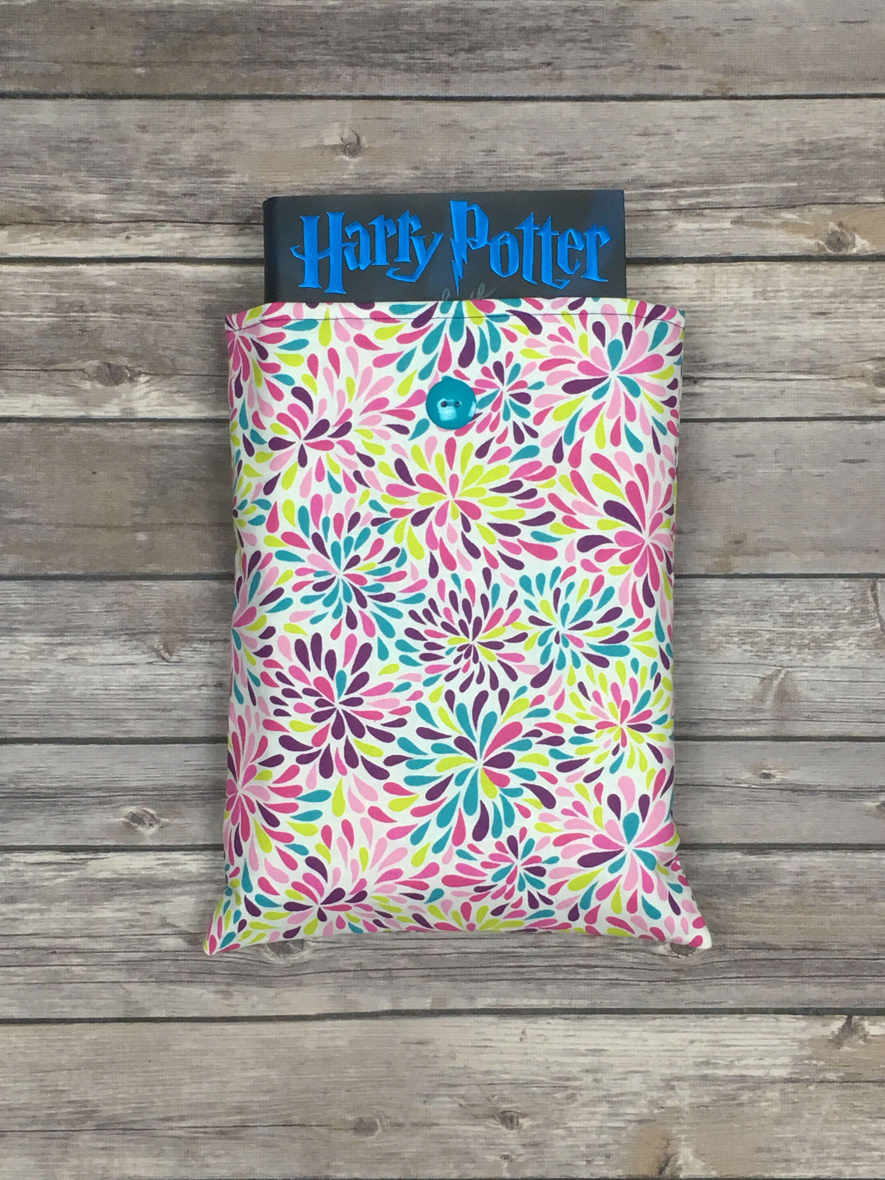 Large Book Sleeve Handmade on Etsy! Sew Happy Stitch