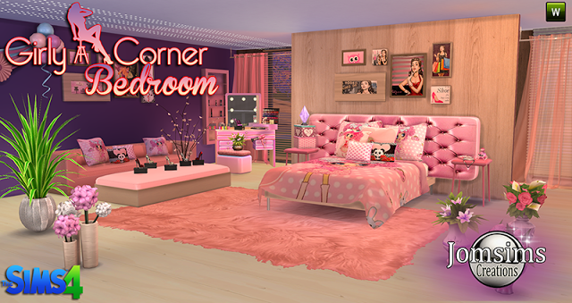Sims 4 Cc S The Best Girly Corner Bedroom Set By