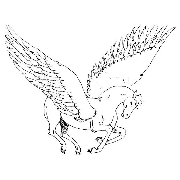 pegasus wings Coloring Sheet ❤ liked on Polyvore | Coloring ...