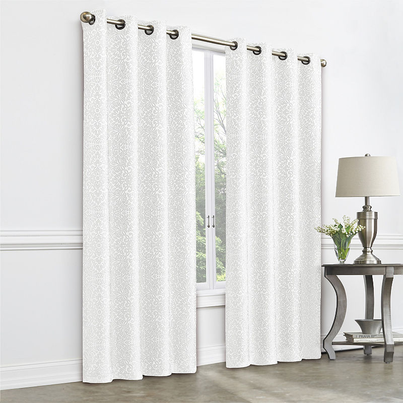 Jcpenney Home Plaza Tapestry Blackout Grommet Top Single Curtain