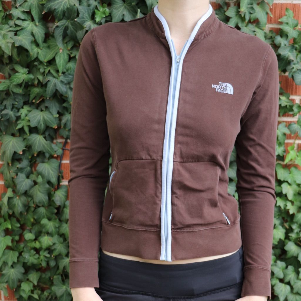 North face brown zip up jacket products