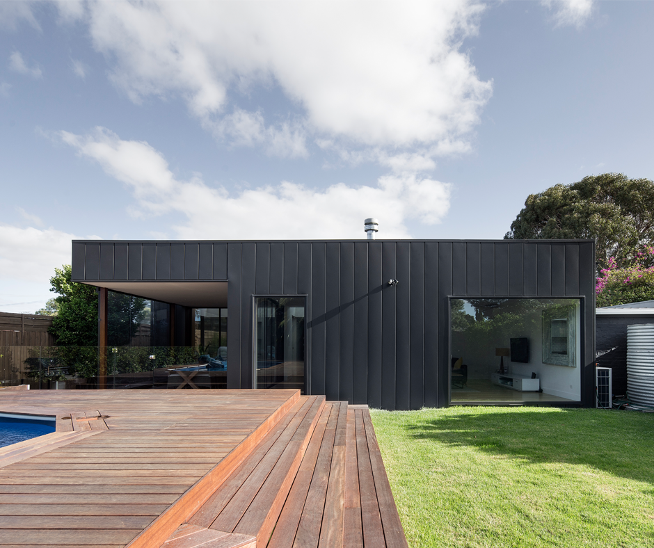 Altona Lightbox By Omgarchitects Used Colorbondsteel Monument For The Roofing And Cladding Of The New Light F Architecture Modern Architecture Holiday Home