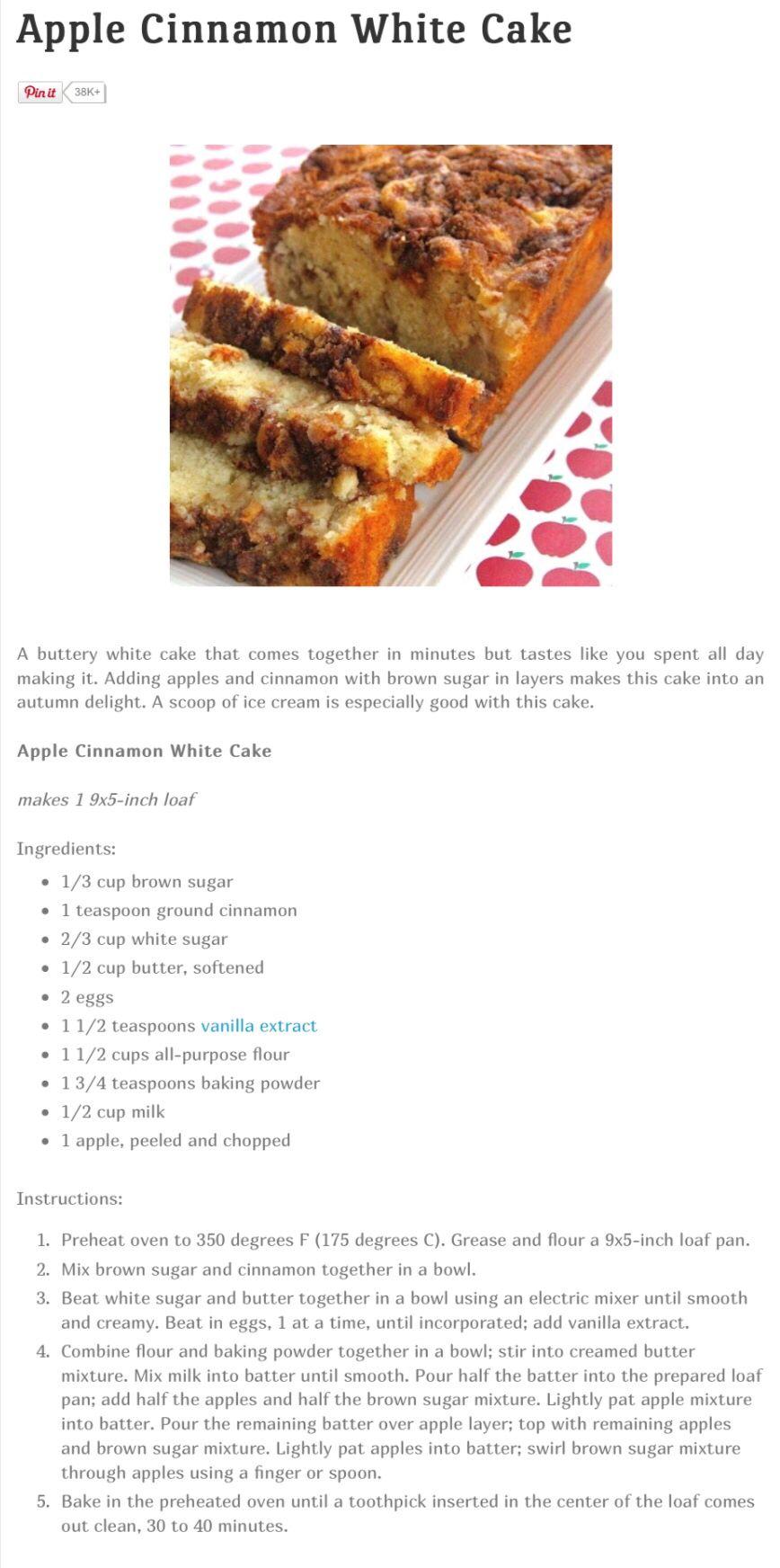 Apple cinnamon white cake cinnamon apples apple