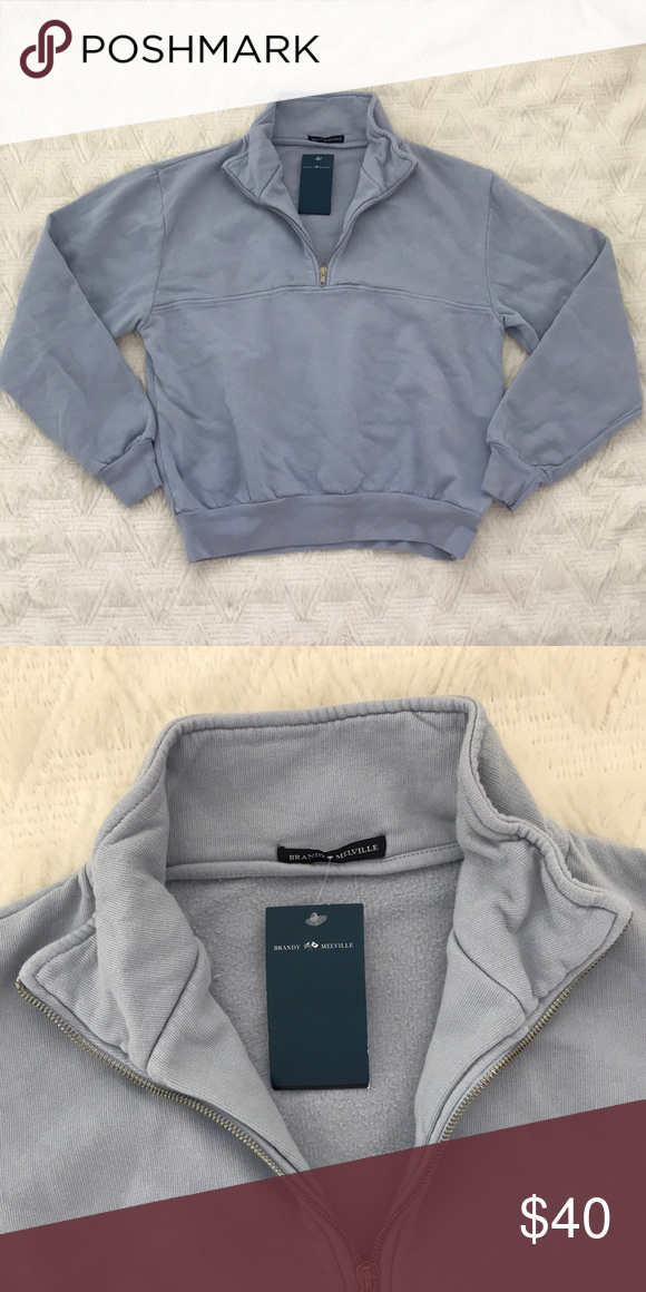 3cec1f52cf9 Bnwt Brandy Melville half zip pullover Brand new with tag Brandy Melville  Sweaters
