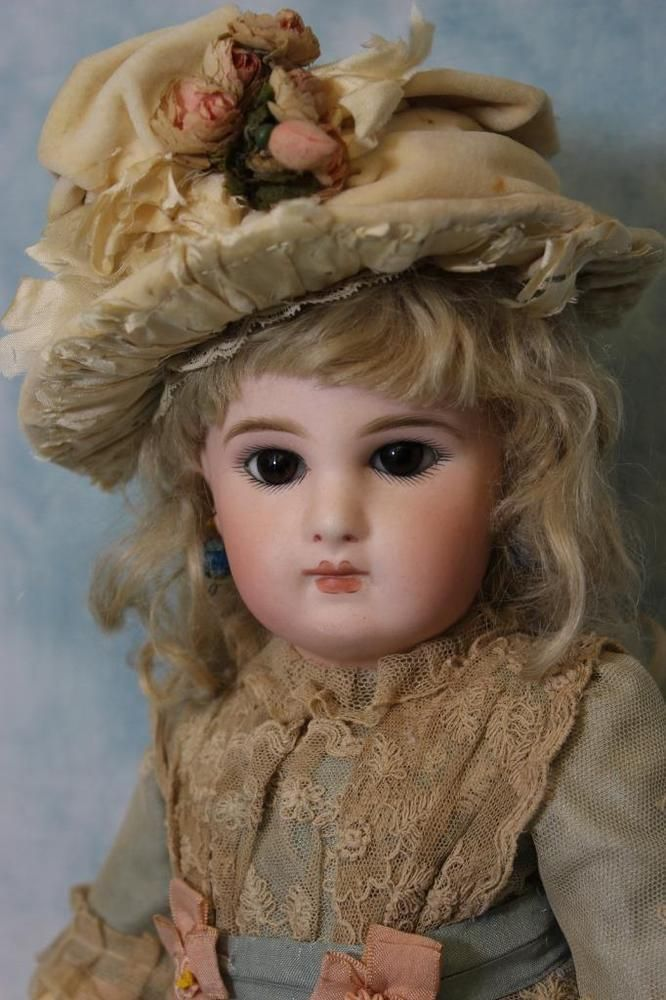 """Antique 16.5"""" Incised Jumeau Depose Bebe French Bisque Doll Stunning! circa 1886"""