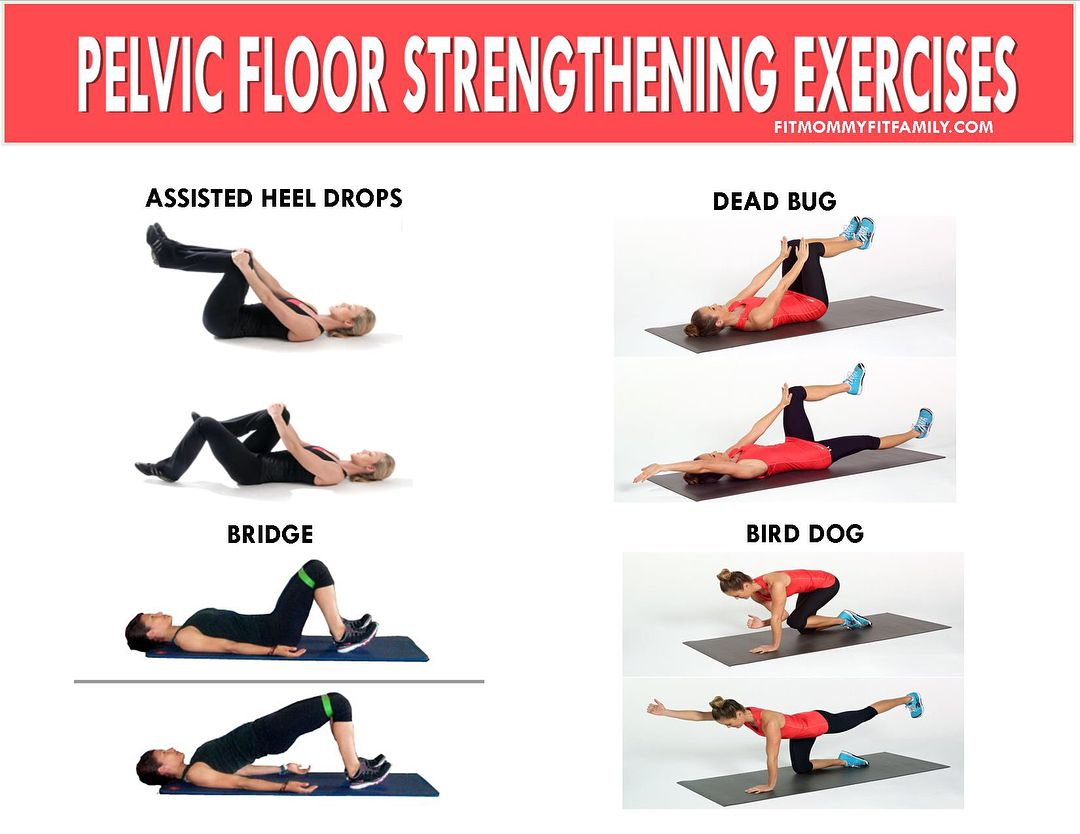 Pelvic floor and abdominal rehab exercises Along with