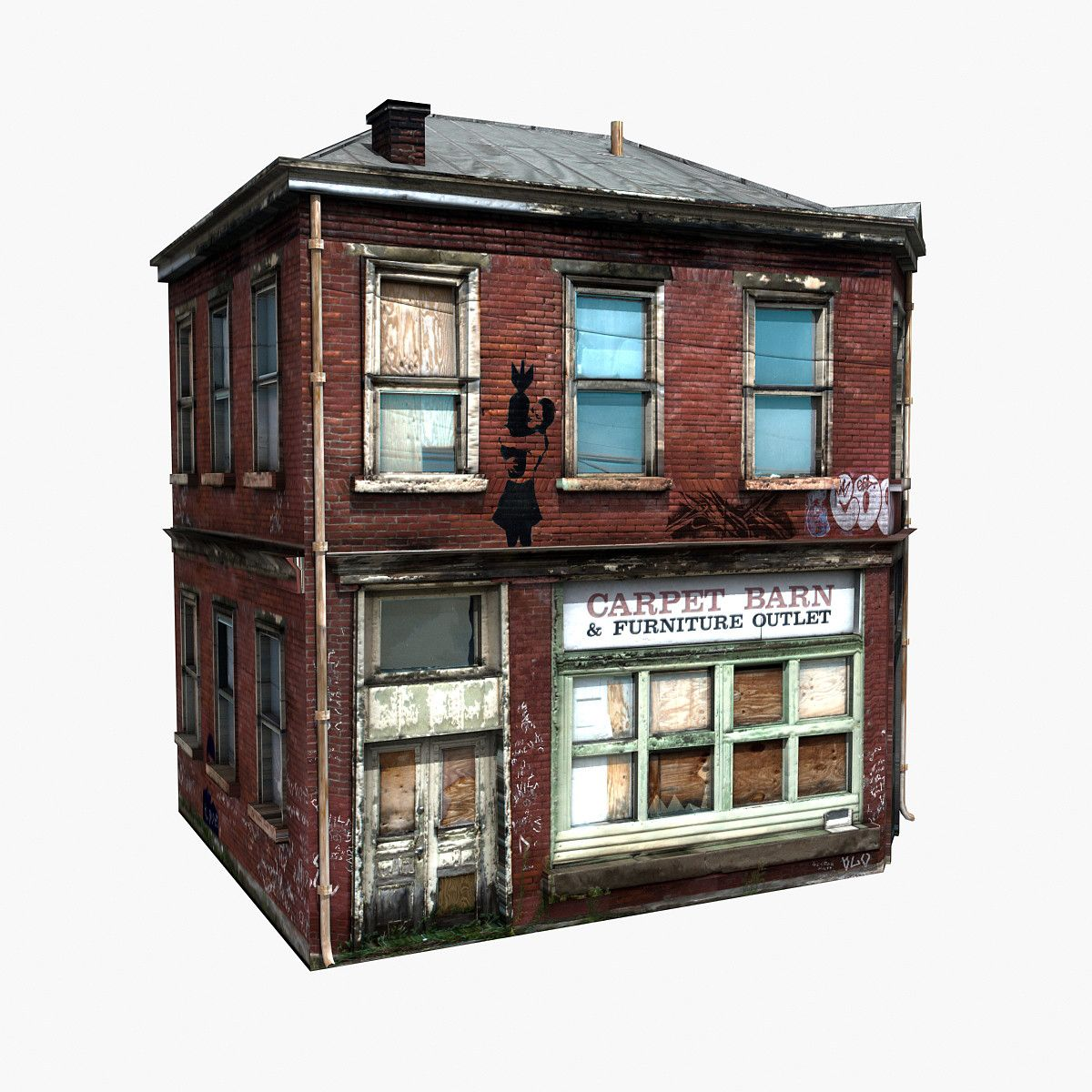 Free Realistic Old Building 3d Model