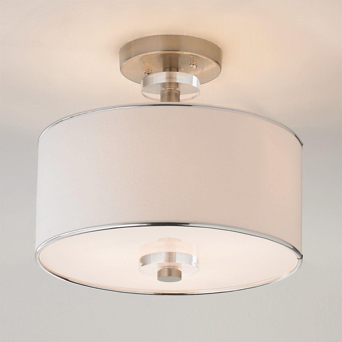Modern Sleek Semi Flush Ceiling Light In 2021 Semi Flush Ceiling Lights Ceiling Light Shades Ceiling Lights