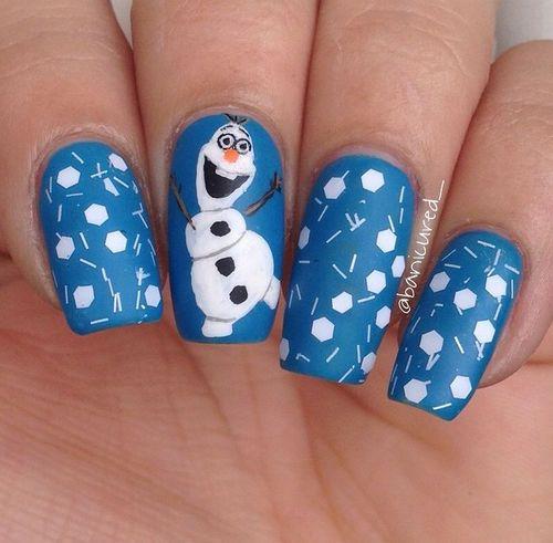 Frozen olaf nails nails nail frozen nail art nail designs ...