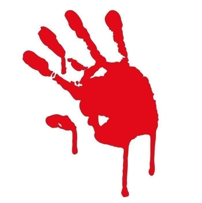 Bloody Hand Print Blood Donation Vinyl Decals Car