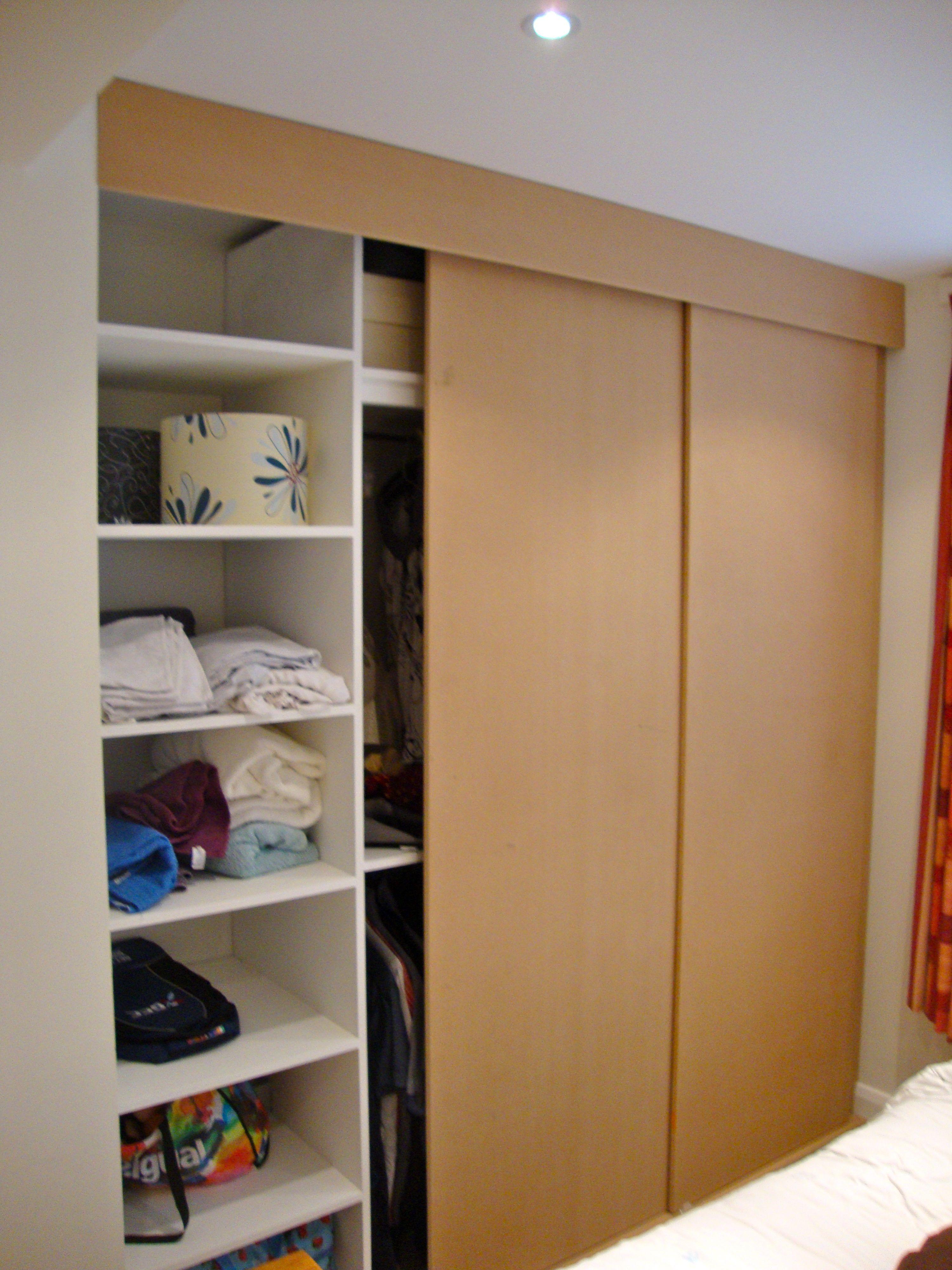 Built in wardrobe with sliding doors