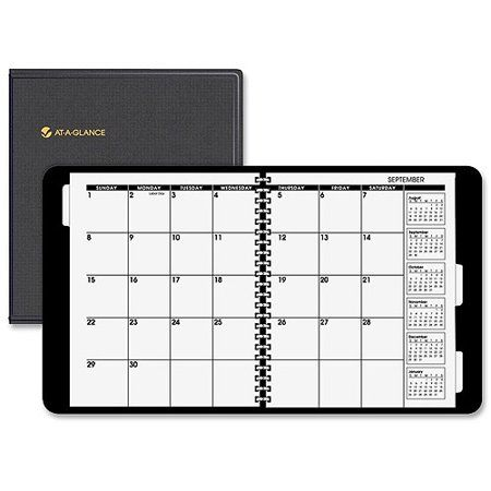 At A Glance Three Year Monthly Planner Black Monthly Planner
