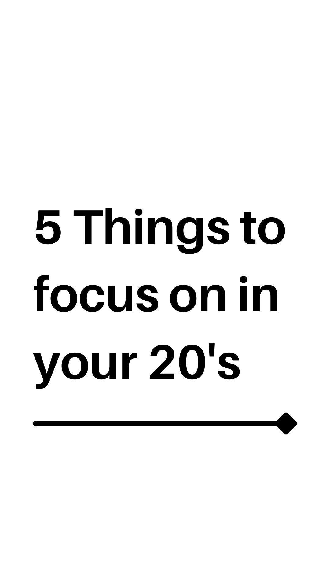 focus on 20's