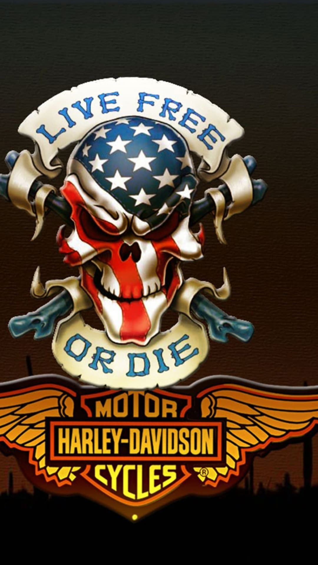 http://wallpaperformobile.org/14278/harley-wallpapers.html - harley  wallpapers | Skull decal, Skull, Skull art