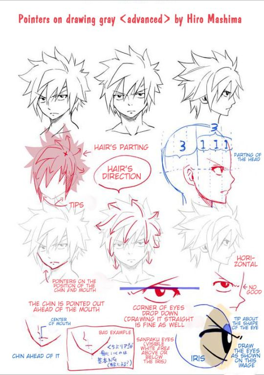 Drawing Guide Gray Fairy Tail Art Fairy Tail Drawing Fairy Tail Characters