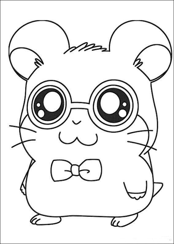 Hamtaro Coloring pages for kids. Printable. Online Coloring. 21 ...