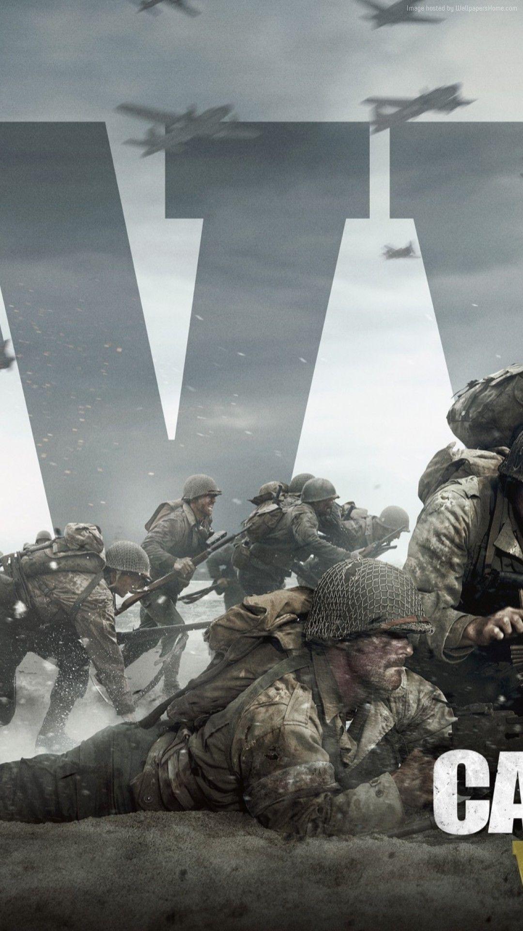 Lovely Call Of Duty World War 2 iPhone Wallpaper