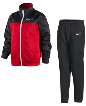 b71691d15 Nike 2-Pc. Zip-Up Track Suit, Little Boys (2-7) - Red 3T | Products ...